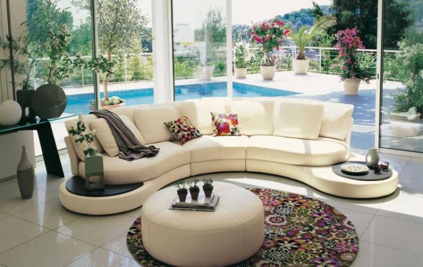 round living room furniture. Living Room Inspiration: 120 Modern Sofas By Roche Bobois Round Furniture T