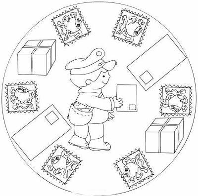 Mandalas De Profesiones Y Oficios Oficios Y Profesiones Mandalas Para Ninos Mandalas Para Pintar Faciles