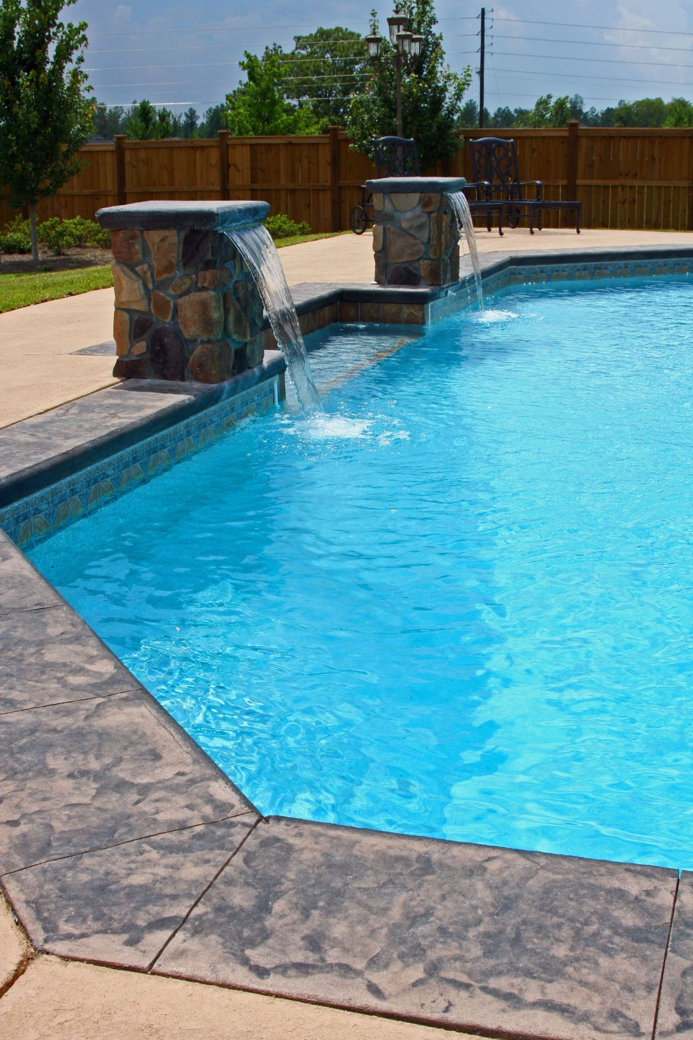 Pin By Mid State Pools On Custom Swimming Vinyl Pool