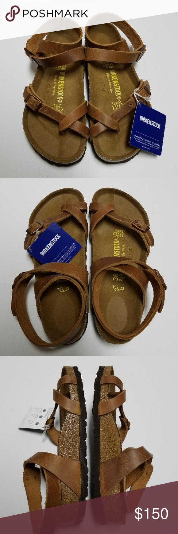 9c370e82b1b3 New Birkenstock Yara Antique Brown Sandals 36 Birkenstock Yara Antique  Brown Leather Sandals. Size 36