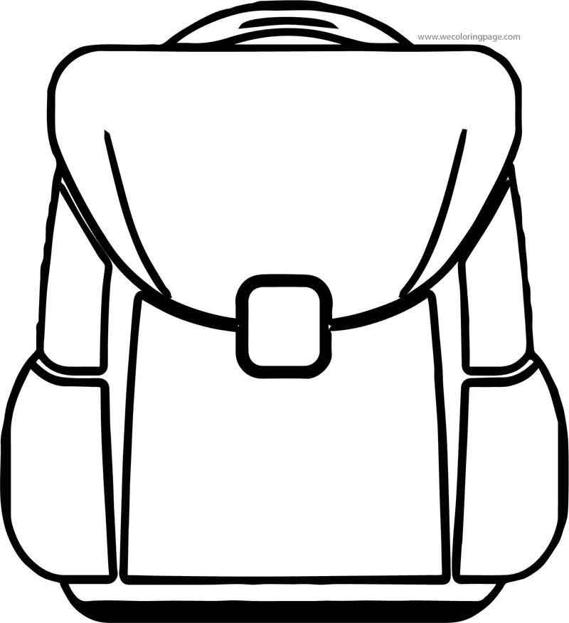 At School Bag Coloring Page School Bags Coloring Pages