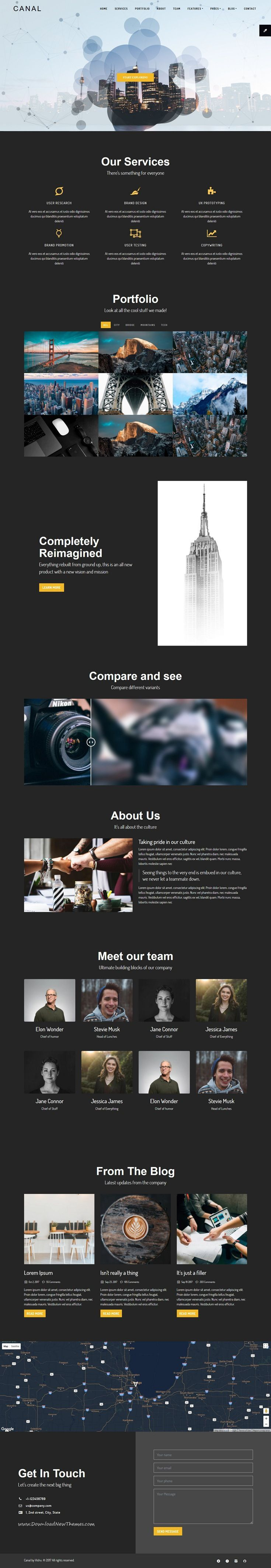 Canal is clean and modern design 3in1 responsive bootstrap #HTML5 ...