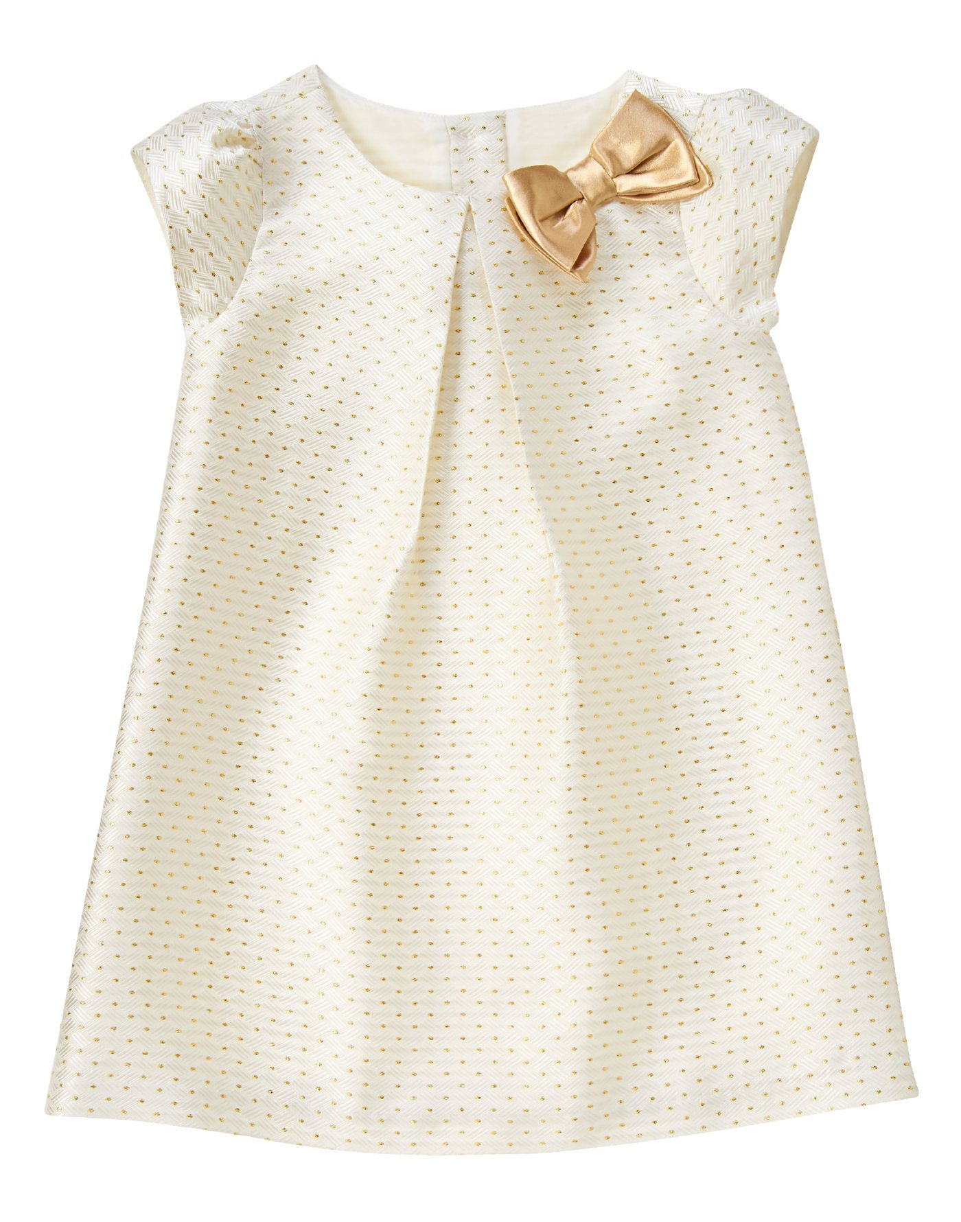 403ea176f2e4 Gold Dot Jacquard Dress at Gymboree | baby girl dresses | Toddler ...