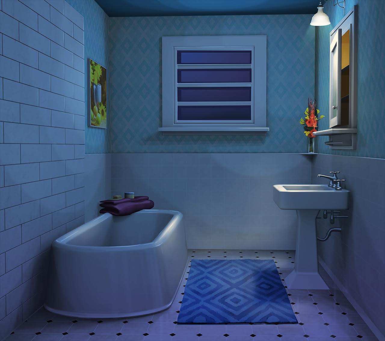 Int Residential Bathroom Sky Blue Night Dekorasi Rumah Dekorasi Rumah