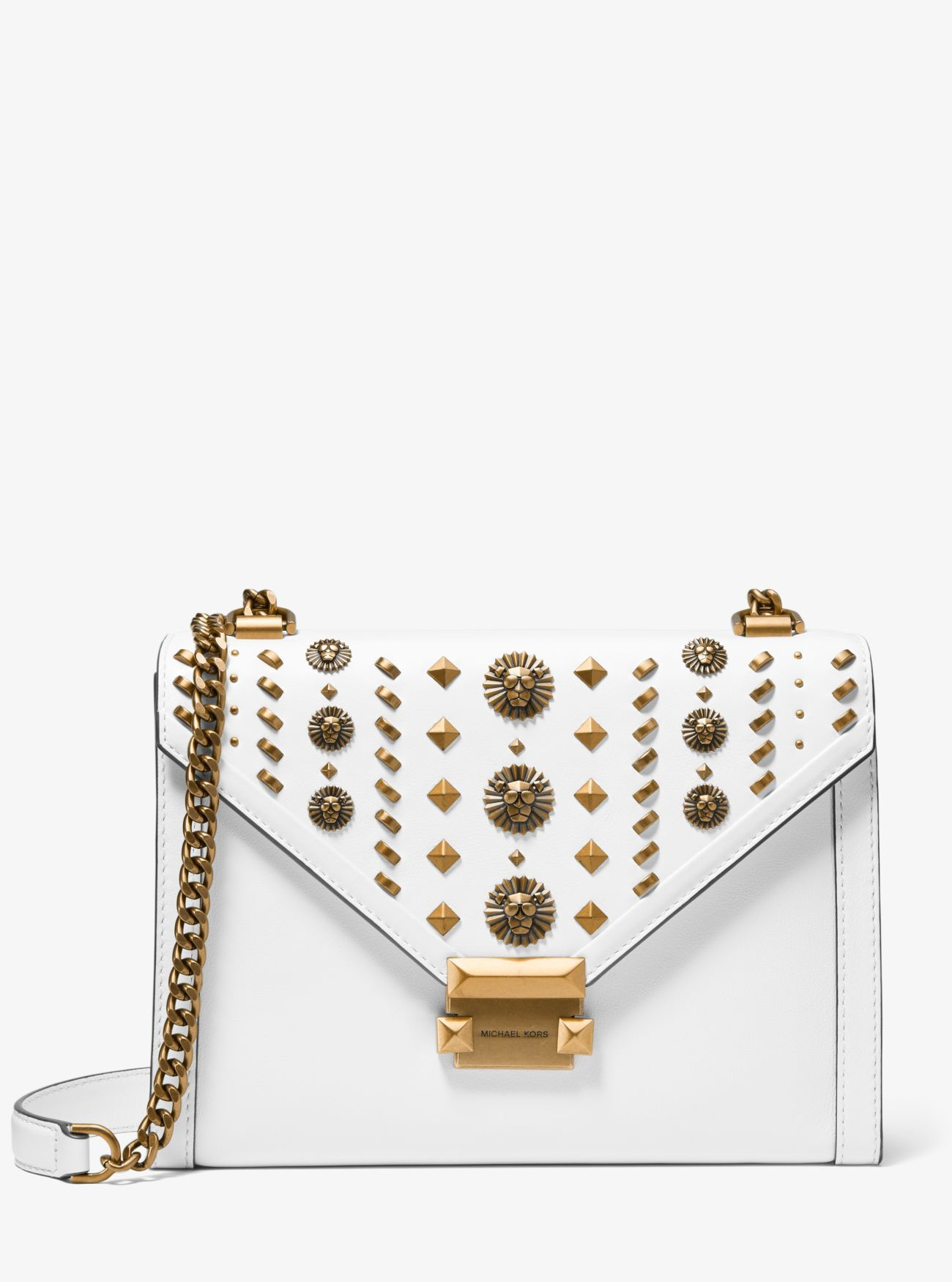 d2f6965e6 Michael Kors Whitney Large Embellished Leather Bag in Optic White – Today's  Fashion Item