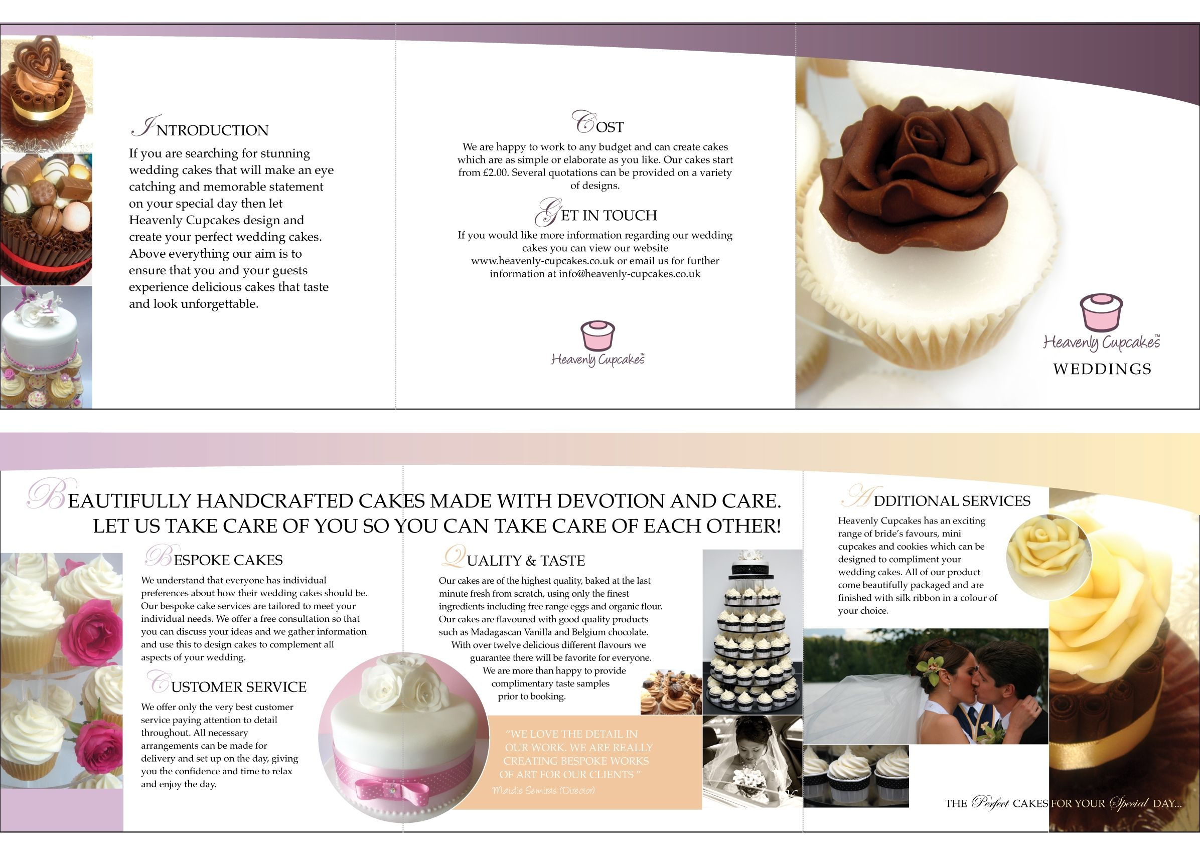 wedding cake brochure templates pin by tarrer on cupcake logo branding 22105