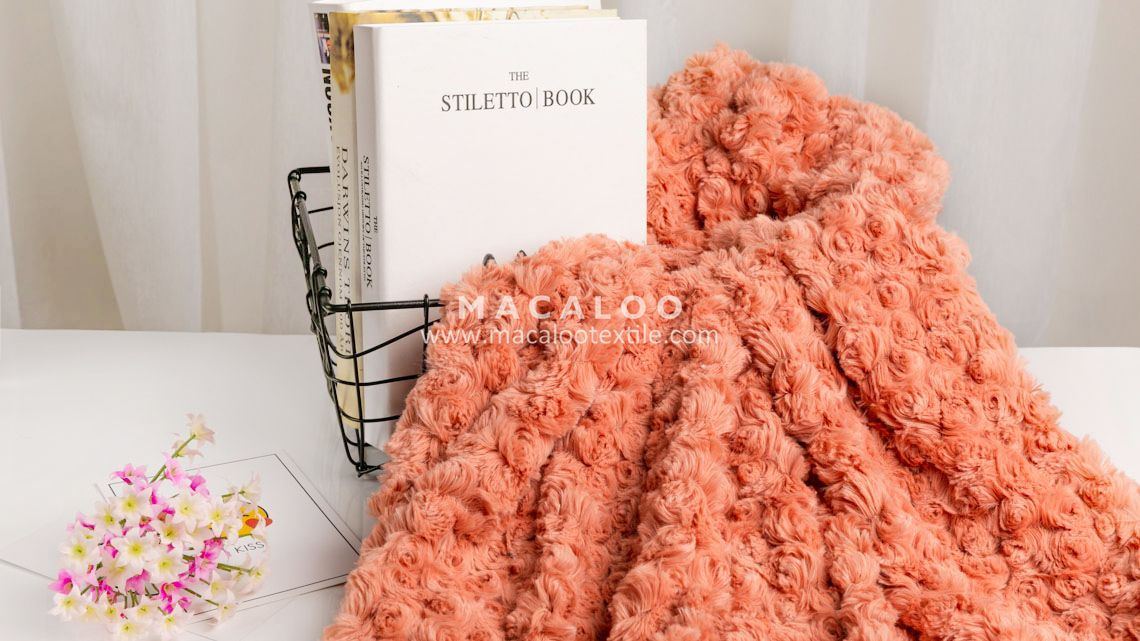 78b78cd75860 340gsm rose swirl knit 100 polyester minky blanket fabric wholesale ...