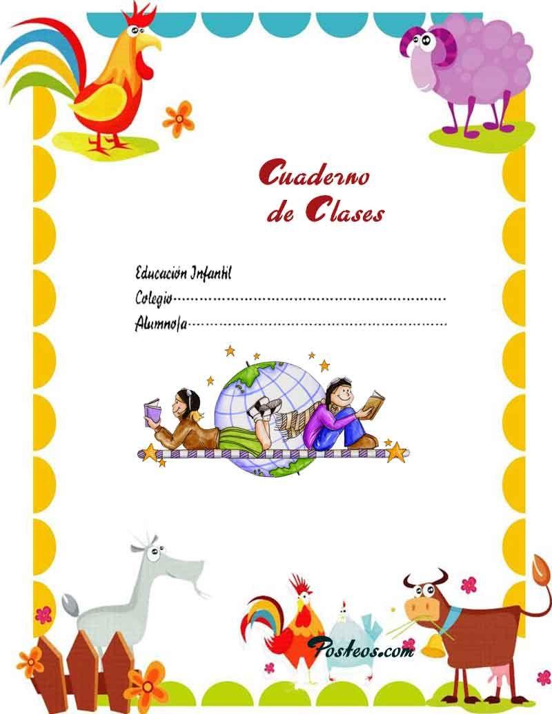 caratulas-color-cuadernos-escolares-infantiles-dibujos-para-imprimir ...