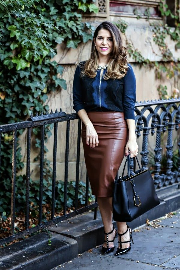 40 Gorgeous Skirt Work Outfits For Office Women | Skirts, My wife ...