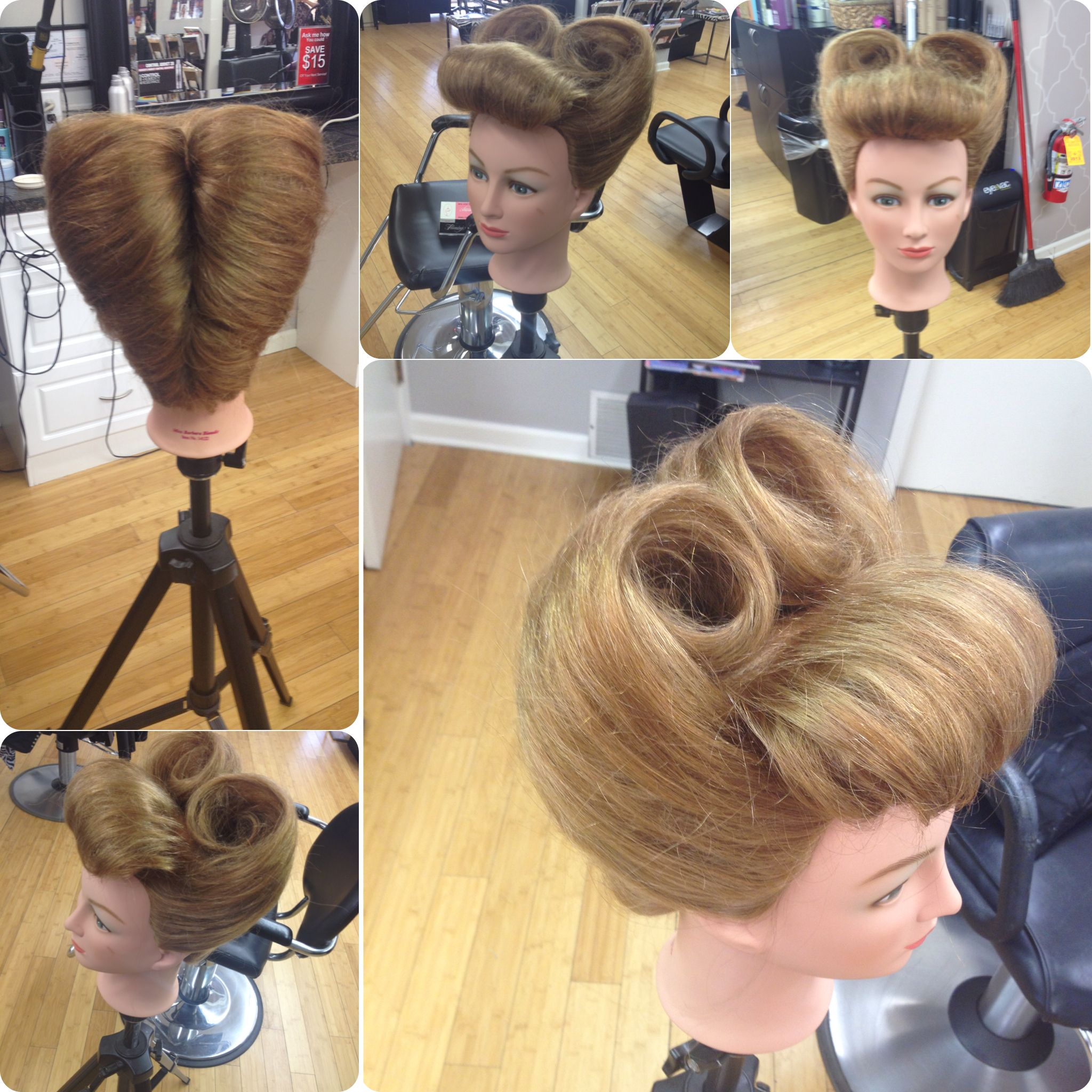 Old School PinUp Victory Roll Hairstyle My Hair Creations