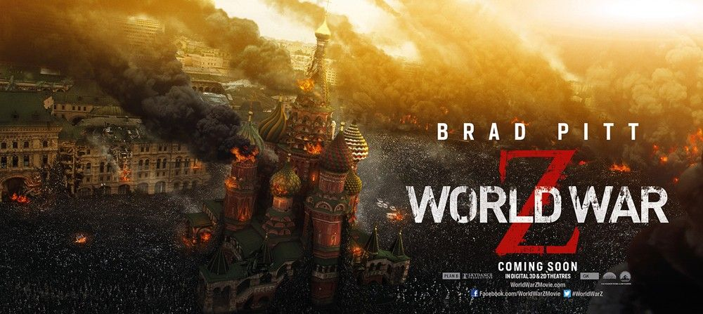 Here S How World War Z Originally Ended Before The Reshoots Movie News Movies Com World War Brad Pitt Movie Posters