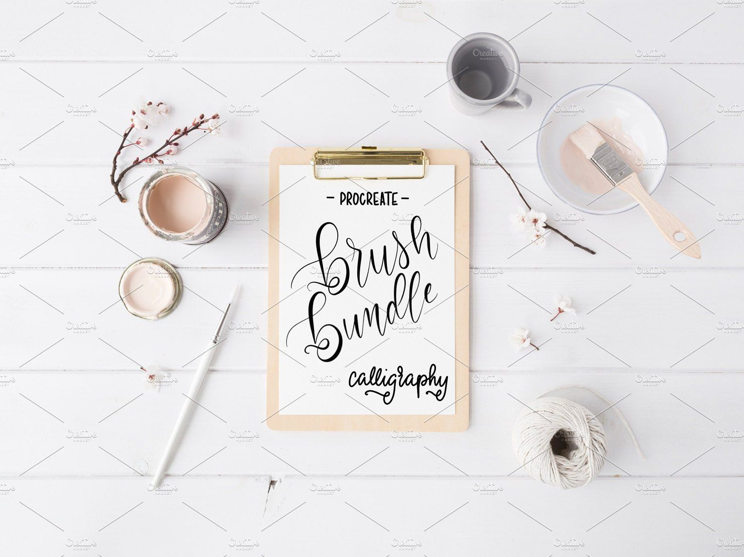 Mod calligraphy brushes procreate calligraphy modern