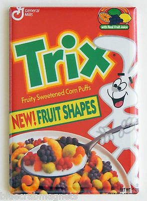 fruit shaped trix fridge magnet cereal box rabbit bunny vintage