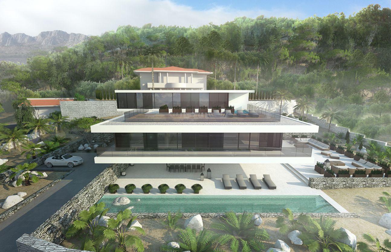 villa2 in Altea, Spain Total area - 350 m2  location - Altea hills, Alicante, Spain  Type - Private villa  stage - project  year 2014