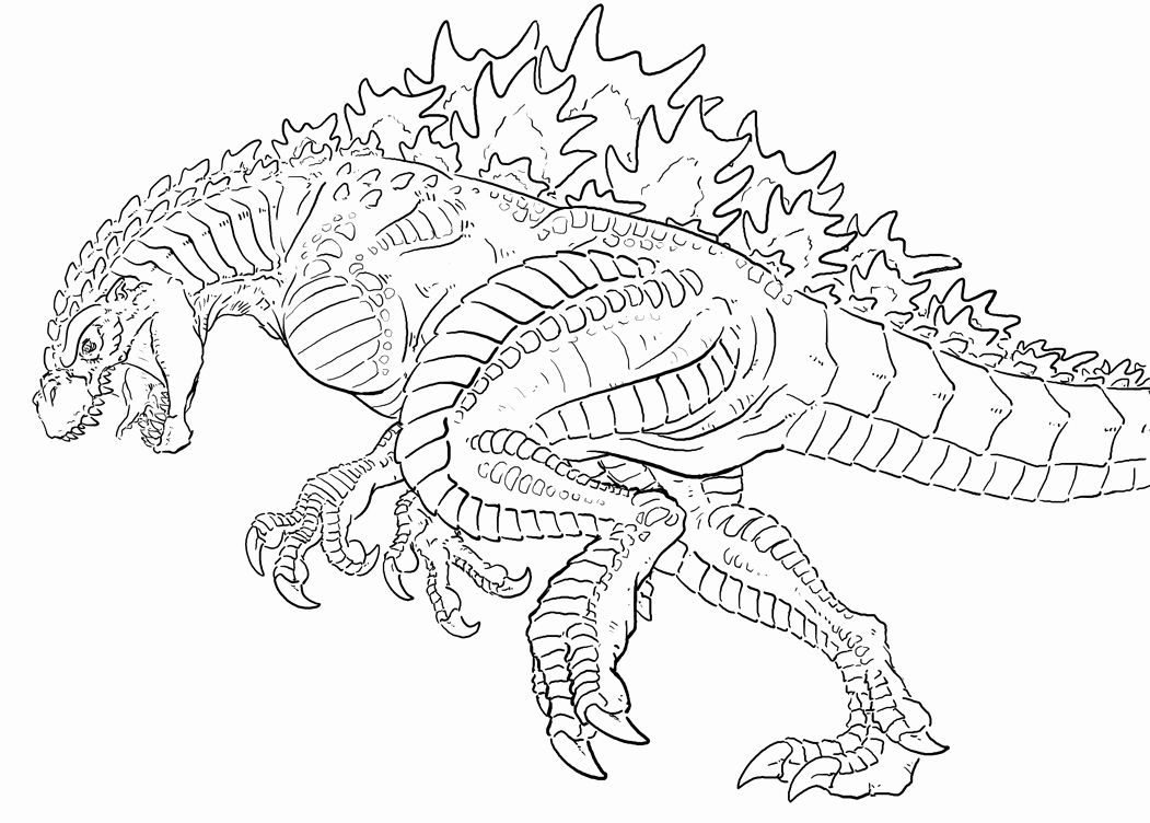 Godzilla Coloring Pages Unique Free Coloring Pages Godzilla Pierre Servent Coloring In 2020 Cartoon Coloring Pages Coloring Book Pages Coloring Pages