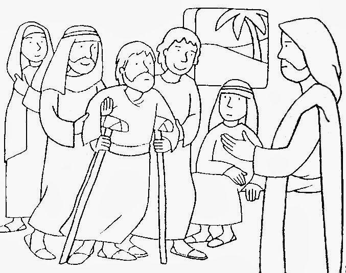 Jesus Curaba Enfermos Para Colorear Jesus Para Colorear Milagros De Jesus Iglesia Ninos