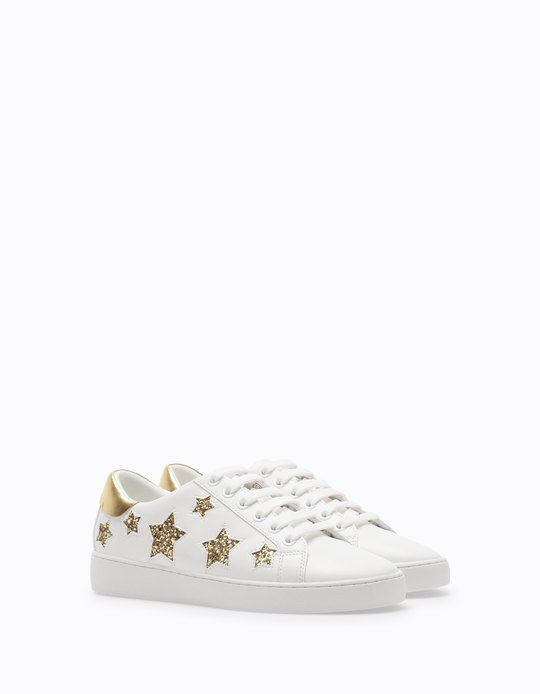 0d2341af9d813 Casual sneakers with star trim - Tenisice