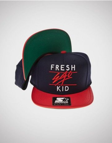 007085648e2 Fresh Ego Kid (FEK) x Starter Snapback Blue   Red