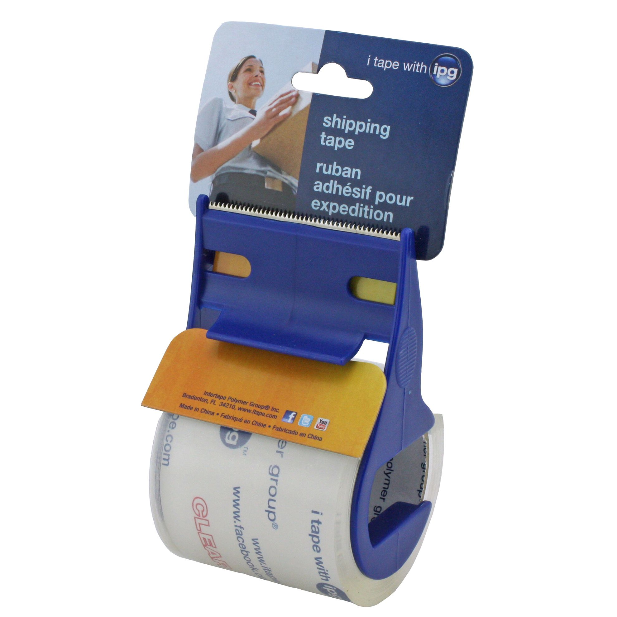 "IPG Intertape Polymer Group 3196 2"" X 17.5 Yds Clear Film General Purpose Carton Sealing Tape"