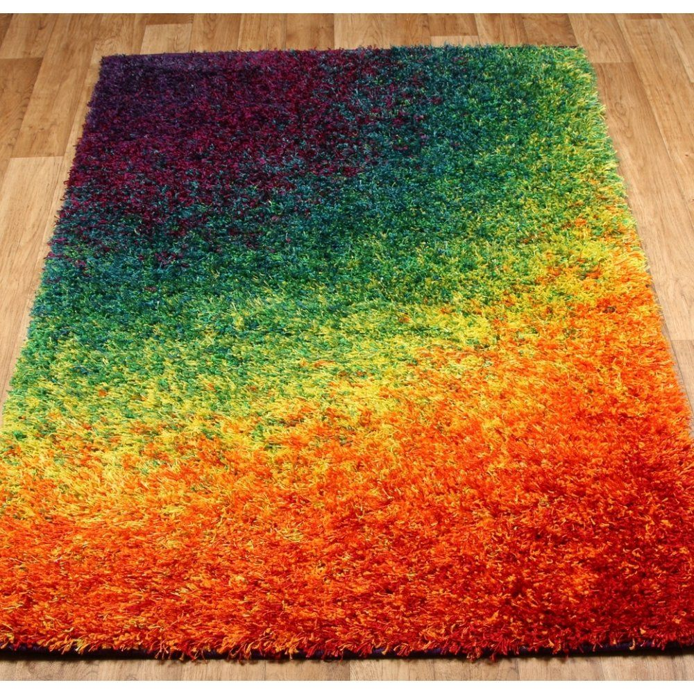 Festival Multi Coloured Shaggy Rug From Rugshop Uk Www Rugshop