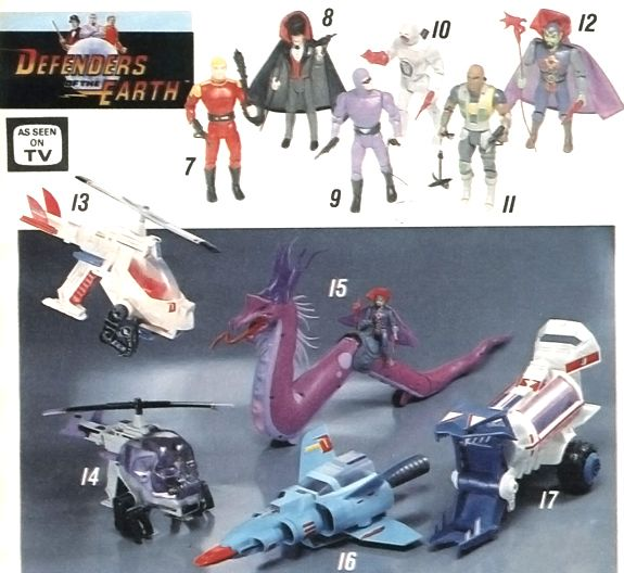 Image result for defenders of the earth toys