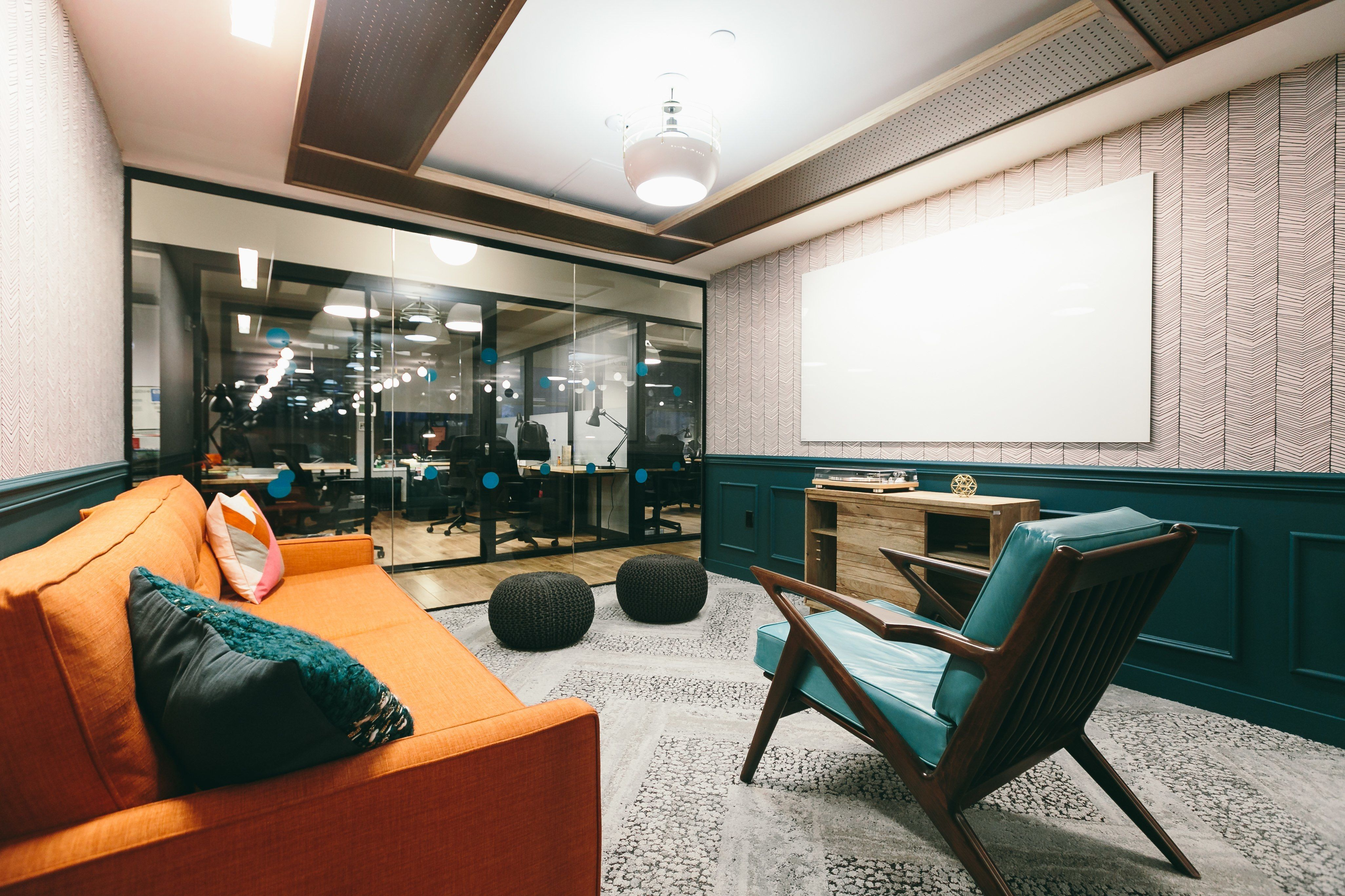 take a tour of wework penn station office meeting pinterest