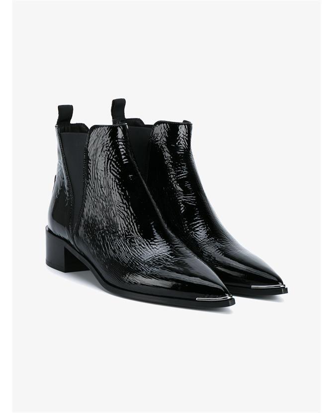 1c16c07436879 ACNE STUDIOS Jensen Patent Leather Ankle Boots. #acnestudios #shoes #boots