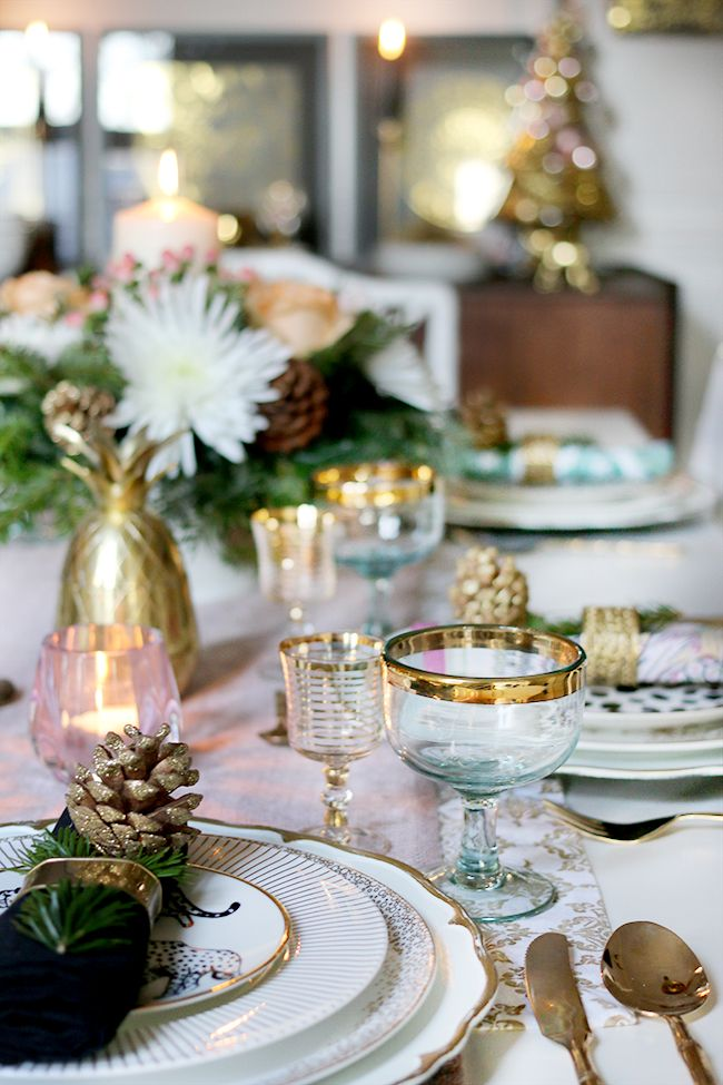 How to Create a Glam Christmas Table Setting on a Budget | Budgeting and Create & How to Create a Glam Christmas Table Setting on a Budget | Budgeting ...
