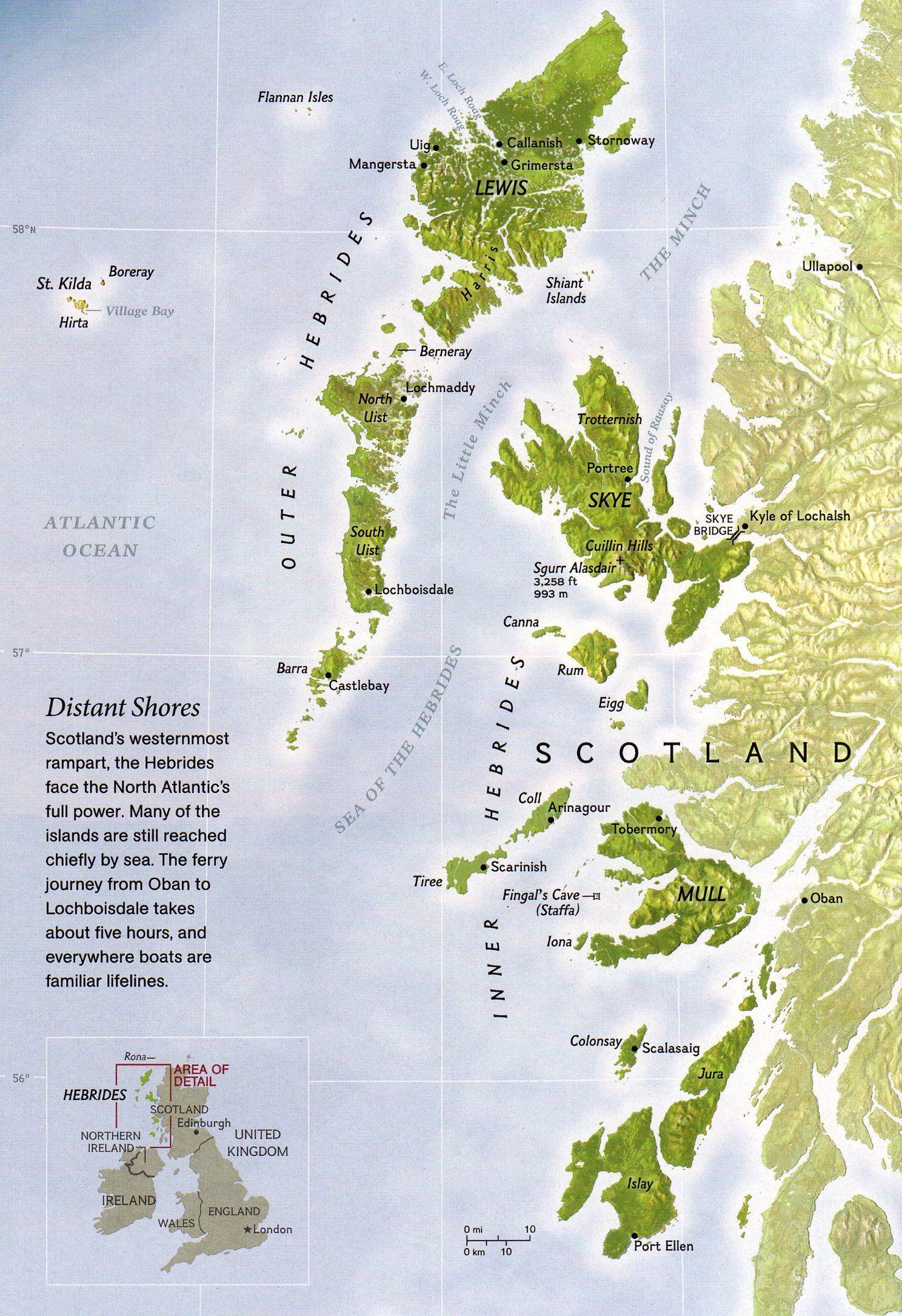 Hebrides Islands Map Hebrides Scotland Map Hebrides Scotland Road Trip