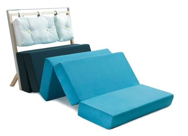 Pause Convertible Sofa bed - A sitter and a sleeper often prefer different conditions of the supporting surface beneath them, so the engaging Pause Convertible Sofa Bed does it...