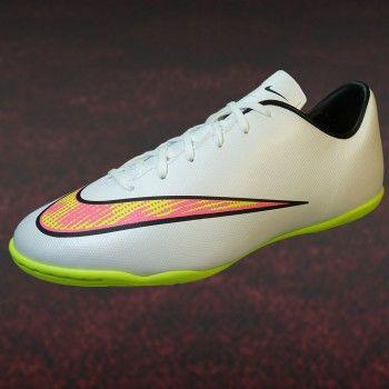 Nike Victory V IC Herren Hallen Fußballschuh weiß neon pink gelb  #hallenfußballschuhe #nike