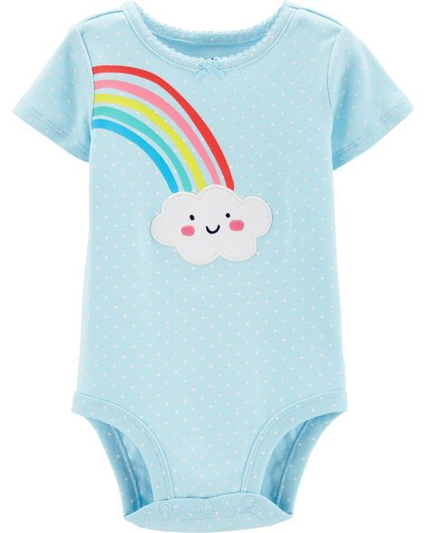 Rainbow Collectible Bodysuit | Baby girl clothes, Carters ...