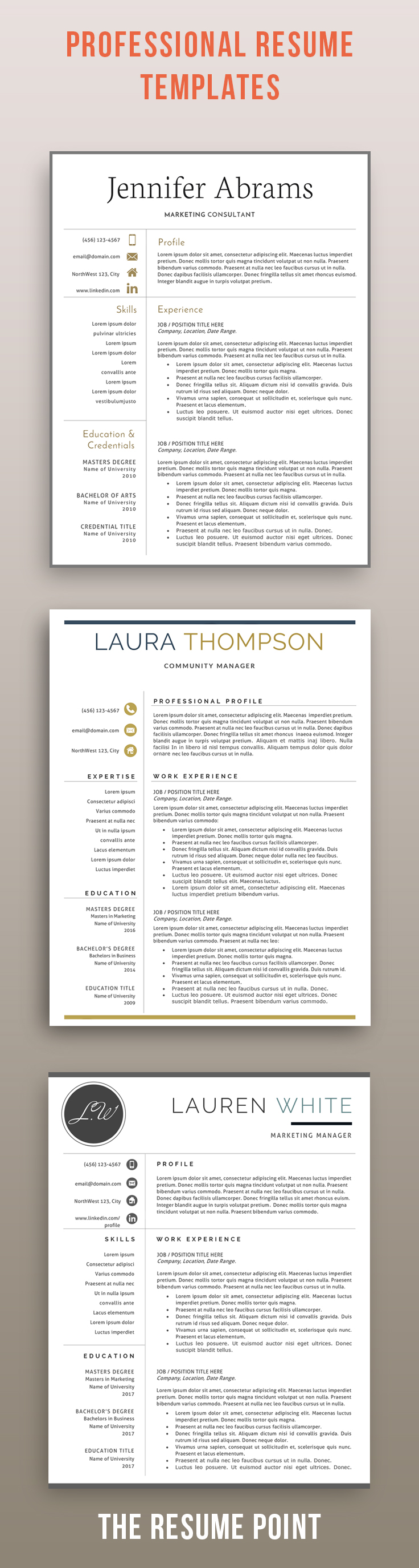 Resume Template Word Mac Inspiration Resume Templates For Modern Professionalseasily Editable In .