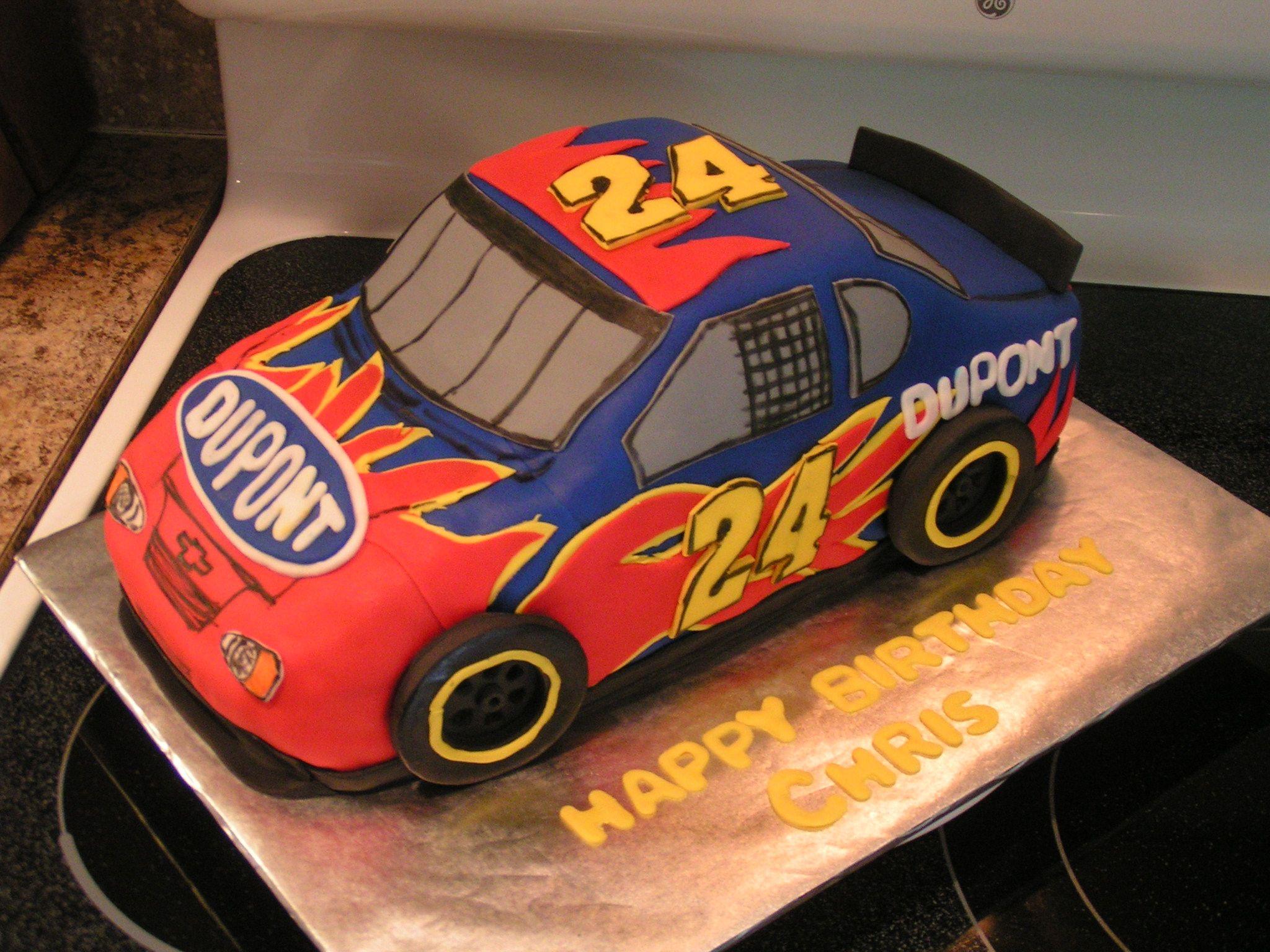 Jeff Gordon Cake With Images Nascar Cake Jeff Gordon Fondant