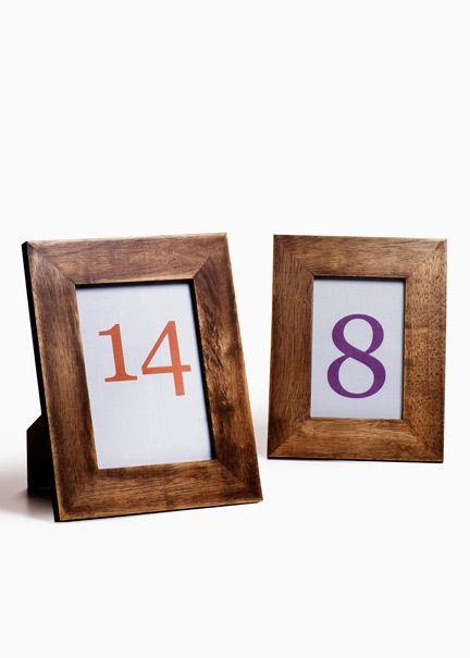 mango wood picture frames print or create your own table numbers