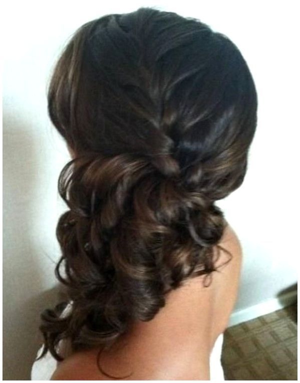 Wedding Hairstyles For Long Hair Off To The Side  side