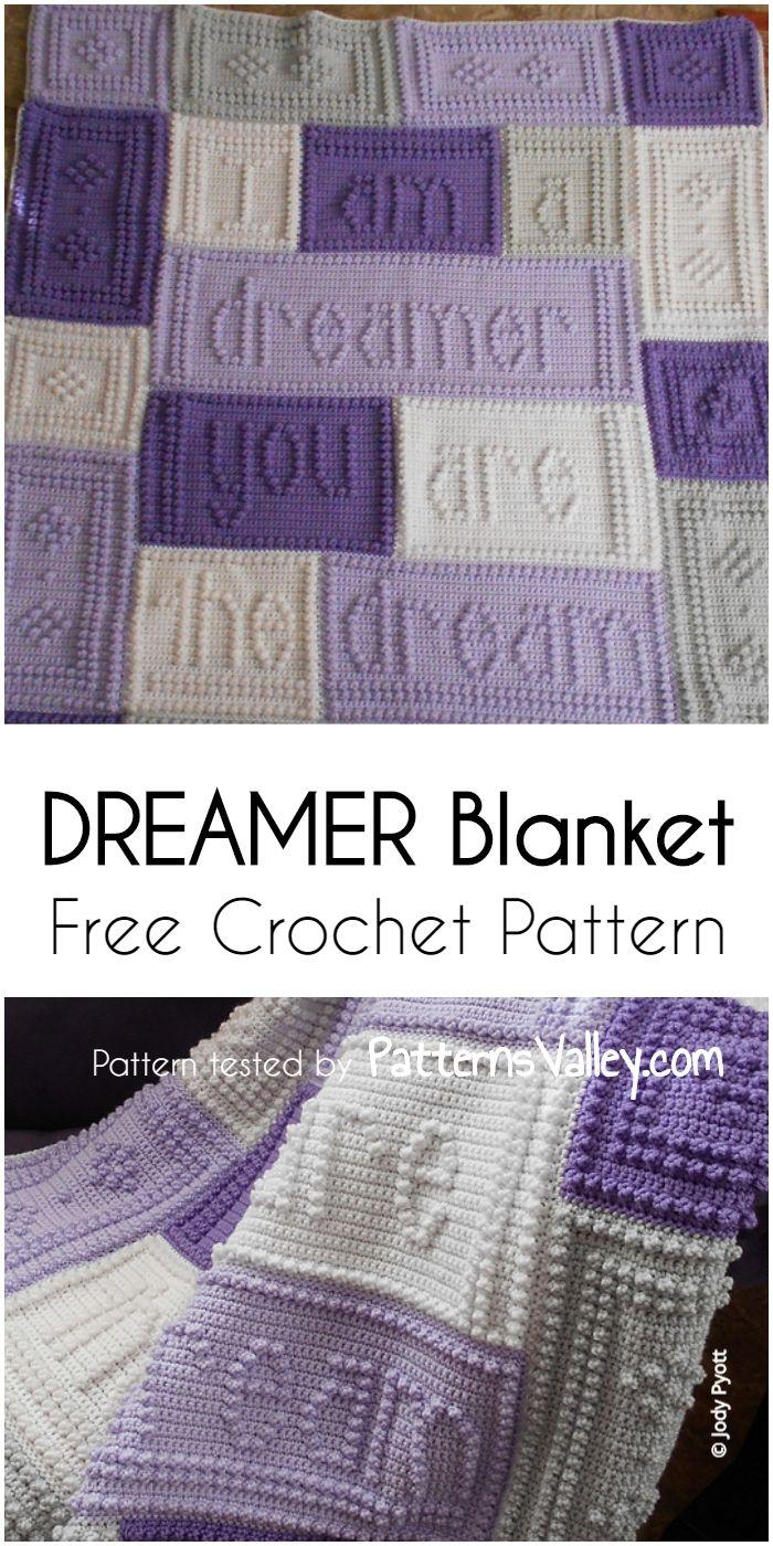 DREAMER Blanket – Free Crochet Pattern #dreamerblanketpattern ...