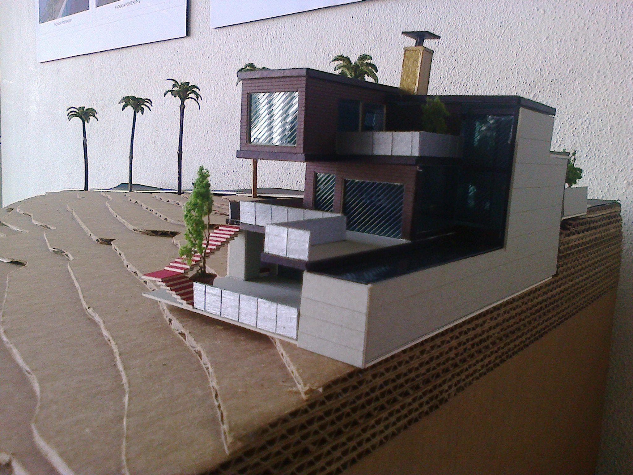 Casa de playa disenoarquitectonico maquetas pinterest for Casa moderna maqueta