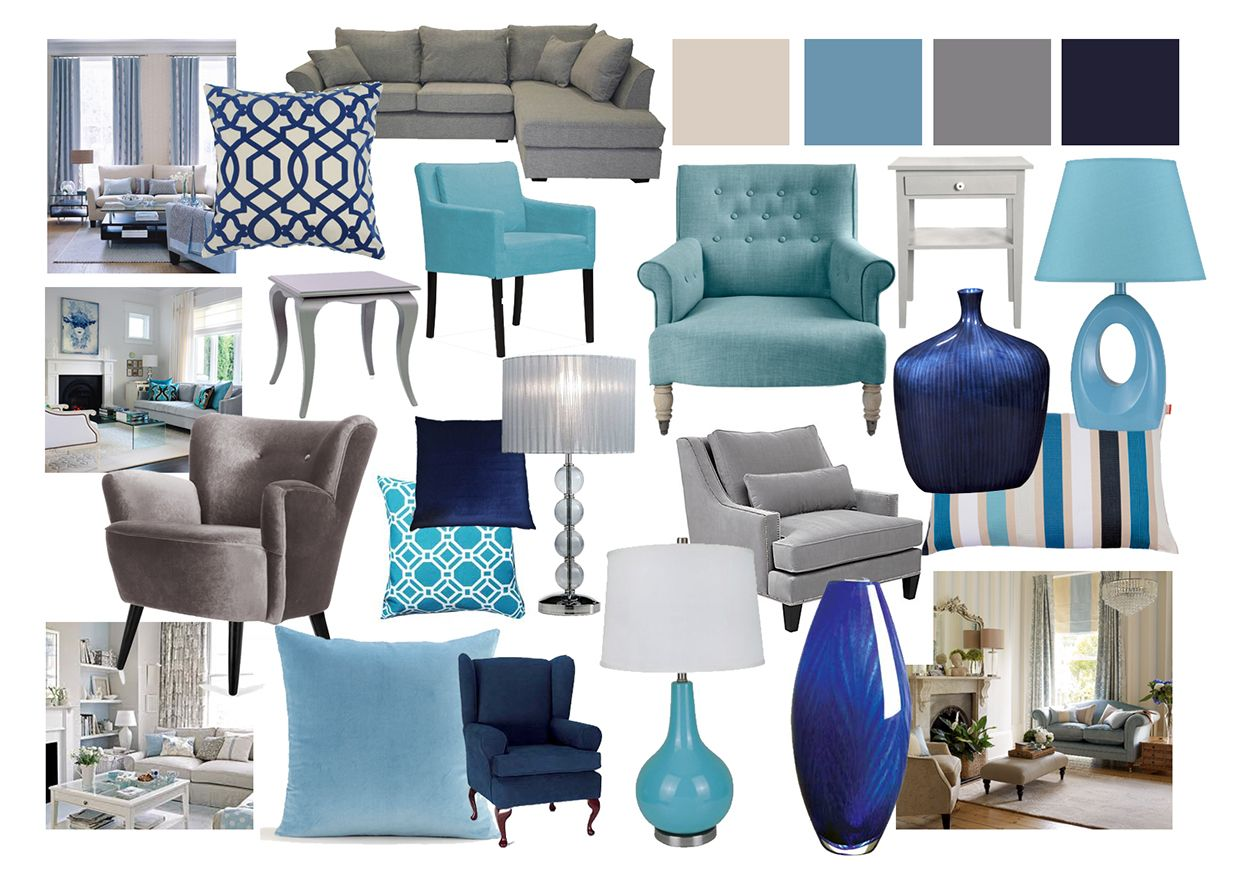 Best Living Room Mood Boards Done On Photoshop Blue Living 400 x 300