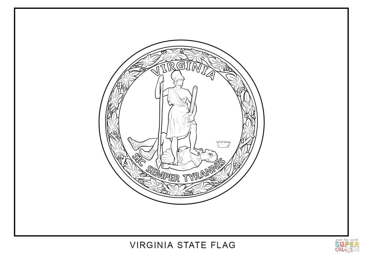 Image result for virginia state flag coloring page | California ...