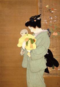上村松園 母子 1934年