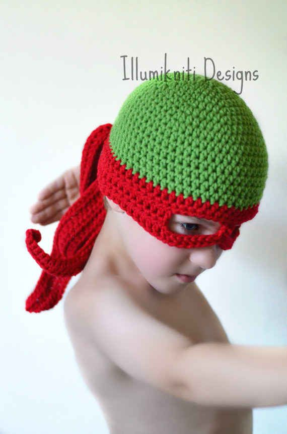Teenage Mutant Ninja Turtles crotchet hat. | Spinnen, Stricken und Hunde