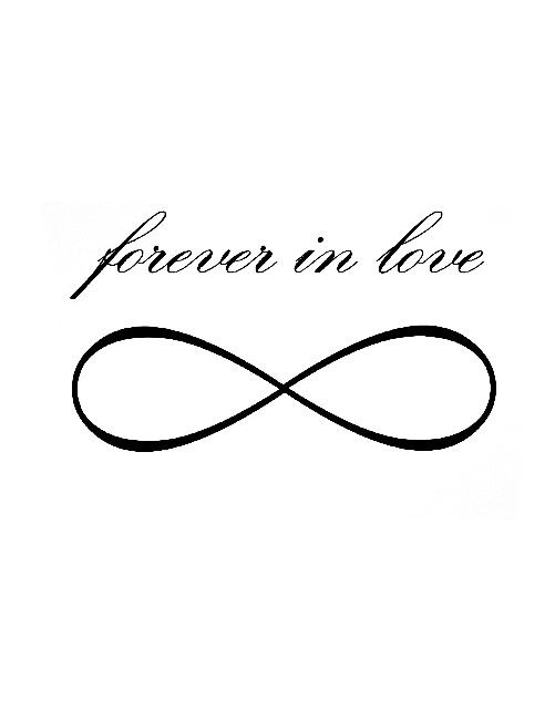 Forever In Live Infinity Tattoo Tattoo Art Pinterest