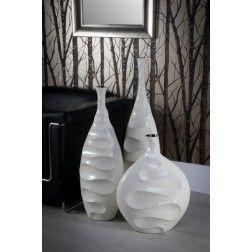 Jarr n decoraci n moderno blanco 55 cm en tu for Jarrones de suelo modernos