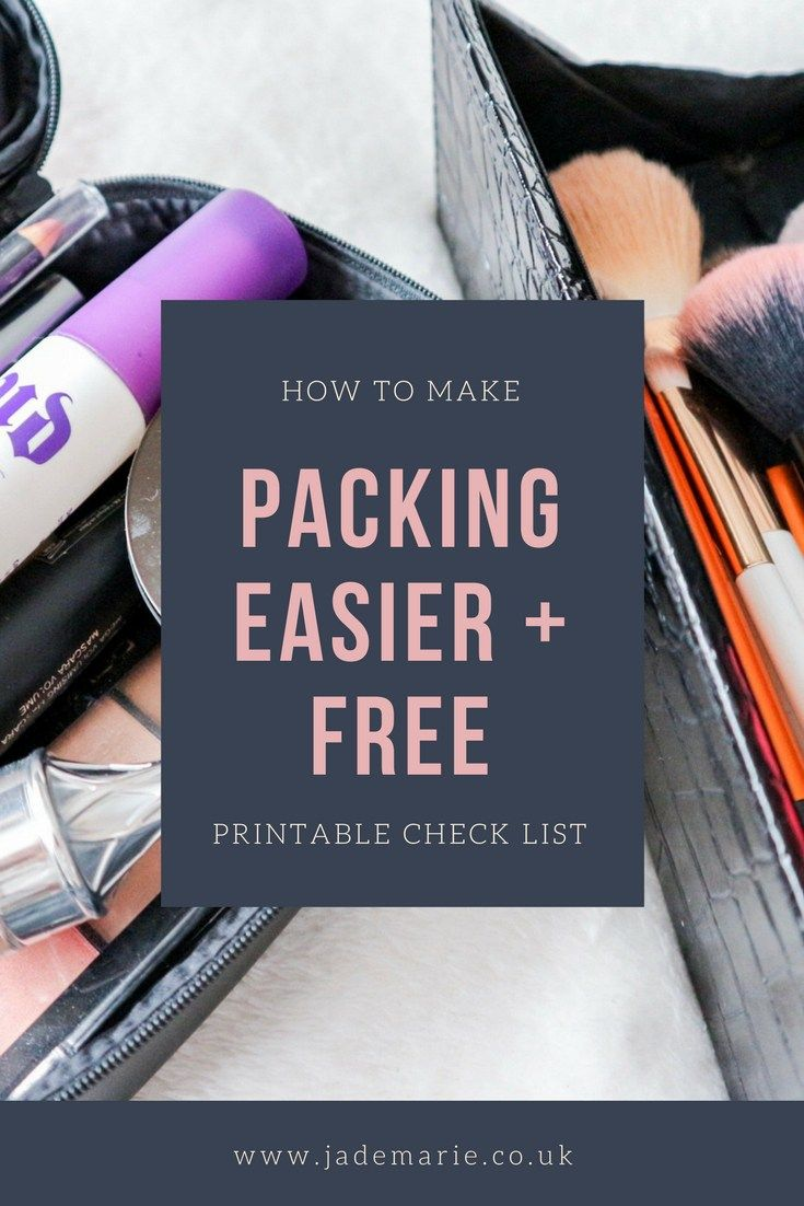 How To Make Packing Easier + Free Check List | Travel | Pinterest ...