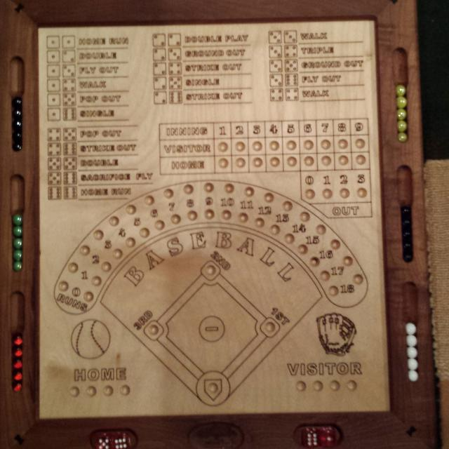 Handcrafted wooden baseball dice game in 2020 Dice games