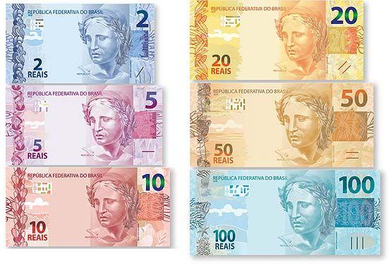 Nova Nota De Dinheiro Real Fotos De 2 5 10 50 100 Reais