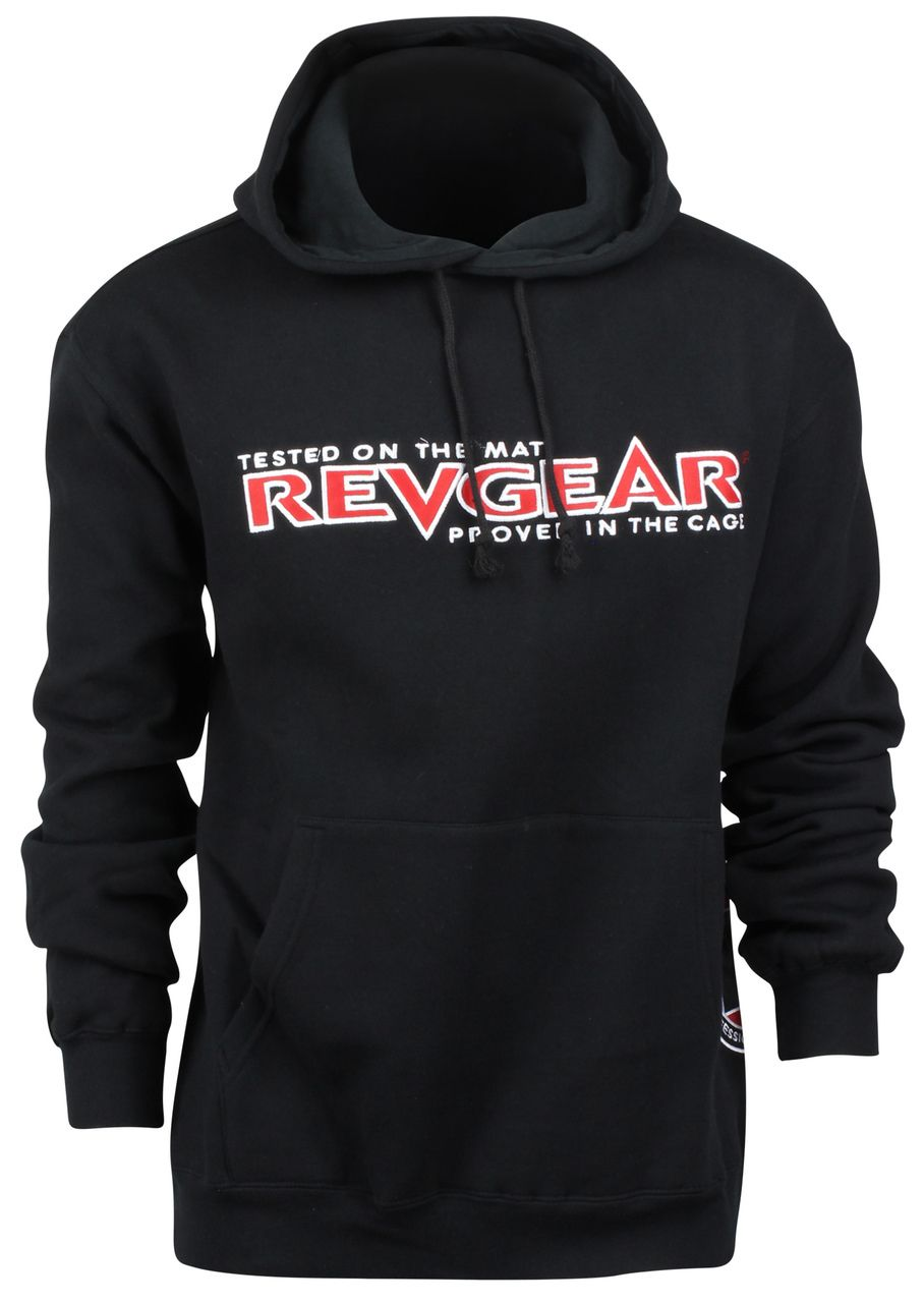 Revgear Tested On The Mat Pullover Hoodie Black Red Winter Warm