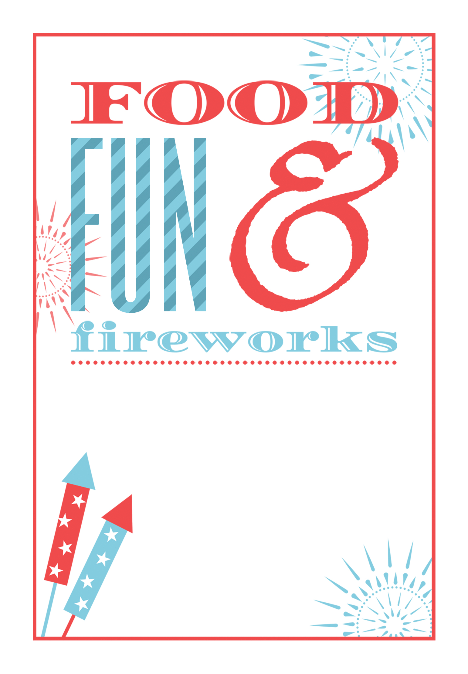 Food Fun And Fireworks Free Printable 4th Of July Invitation Template Greetings Island Invitation Printing Invitation Template Fireworks Invitation