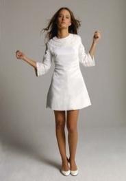 Swinging Sixties Style Short Wedding Dress Clic And Very Hip